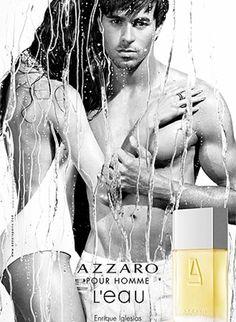 Enrique promoting his perfume Azzaro pour l'homme.