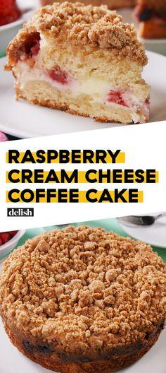 Raspberry Cream Cheese Coffee Cake Will Change The Breakfast Game Delish Cream Cheese Breakfast, Cream Cheese Pastry, Cream Cheese Coffee Cake, Breakfast Cake, Breakfast Recipes, Rasberry Coffee Cake, Decaf Coffee, Coffee Cup, Coffee Plant