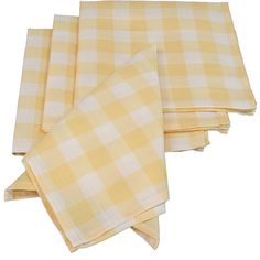 A gingham check napkin is perfect summer soirees. | $22 for a set of four