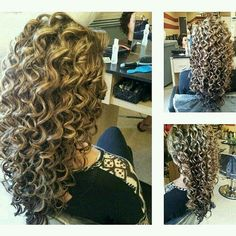 Curly Perm Hairstyles for Long Hair afro bangs hair hair styles mujer peinados perm style curly curly Big Hair, Wavy Hair, Curly Perm, Curly Bangs, Spiral Curls, Spiral Perm Long Hair, Big Curls, Pretty Hairstyles, Long Permed Hairstyles