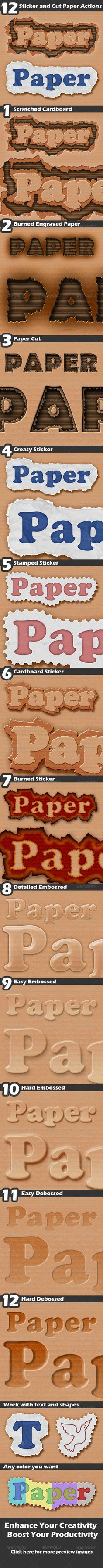 Sticker and Cut Paper  #GraphicRiver        Sticker and Cut Paper Description  Sticker and Cut Paper is a pack of professional Photoshop Actions. It's a must-have for any digital artist. With this is professional pack you may turn your ordinary text into extraordinary artworks. Create powerful images with the professional standard using powerful tools and professional methods. Enhance your creativity and boost your productivity with the Stitched Jeans and Leather actions.   works with text…