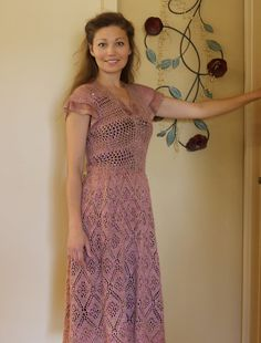 Trellis lace dress