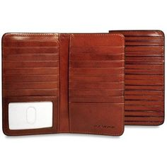 Jack Georges Monserrate Collection #MS704 Breast Secretary Bi-fold Wallet. It's outside leather is made using a special process for a unique serrated finish that adds an edginess to its sophisticated style.  #leather #jackgeorges #wallet #walletwednesday