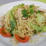 Krůtí kousky s čínským zelím Pak choi recept Pak Choi, Spaghetti, Ethnic Recipes, Food, Essen, Meals, Yemek, Noodle, Eten