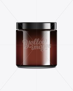 Straight Sided Cosmetic Jar With Lid Mockup
