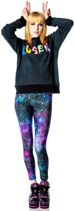 JapanLA x Hello Kitty Galaxy Leggings available at http://dollskill.com