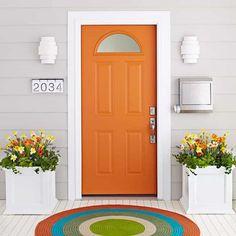 Orange Painted Exterior Front Door : Ways To Paint Your Exterior Front Doors