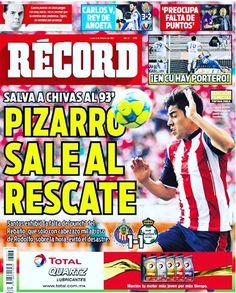 @Rpizarrot sale al rescate de @Chivas #hoyentuRÉCORD #Portada record.mx/1PATrO2