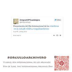 #orgulloarchivero #IAD14  9 Junio, Día Internacional de los #Archivos. Archivo de la imagen (June 9th, International Archives Day)