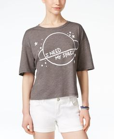 Mighty Fine Juniors' I Need Space Graphic Boxy T-Shirt