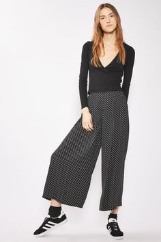 Pinspot Cropped Wide Leg Trousers - Pants & Leggings - Clothing - Topshop USA