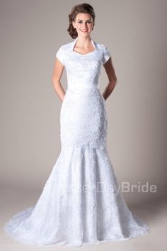 Heatherton- Modest Wedding Dress Front like the neckline on this one