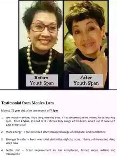 """CLICK ON """"VISIT"""" BUTTON AND READ DETAILS I LOVE THIS SUPPLEMENT! My energy level and skin firmness is amazing now. Available US the end of Feb 2016. My website has my contact information. In Asia it is called Y-Span - US it is called AgeLOC YOUTH www.moreinfo.nsproducts.com Nu Skin, Online Discount, Younger Looking Skin, Aging Process, Energy Level, Choose Me, Anti Aging, Asia"""