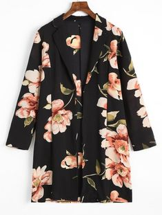 SHARE & Get it FREE | Longline Floral Open Front Blouse - Floral SFor Fashion Lovers only:80,000+ Items • New Arrivals Daily Join Zaful: Get YOUR $50 NOW!