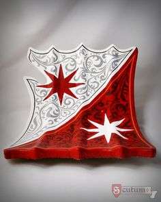 Our bouched jousting shield with three ridges on the surface