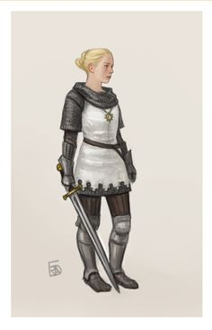 f Paladin Chainmail Armor Sword Symbol lwlvl urban farmland ArtStation - Dungeons and dragons characters, Frida Bergholtz Dungeons And Dragons Paladin, Dungeons And Dragons Characters, Dnd Characters, Fantasy Characters, Fantasy Figures, Female Characters, Fictional Characters, Fantasy Character Design, Character Concept