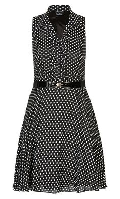 c1ad0156bf City Chic - SPOTTY FRILL FRONT DRESS - Women s Plus Size Fashion City Chic  - City