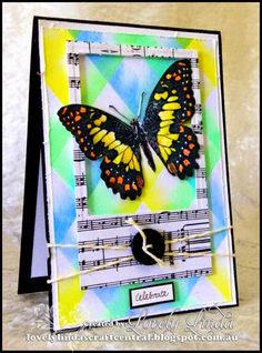 Great card layout by Lovely Linda's Craft Central!!: Darkroom Door - Butterfly Card ~ http://lovelylindascraftcentral.blogspot.com.au/2014/10/darkroom-door-butterfly-card.html