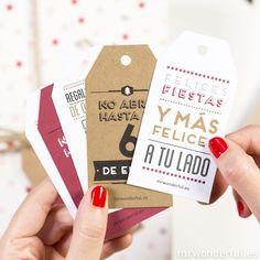 Etiquetas metalizadas para regalos navideños #tags #mrwonderful #christmas #scrapbook