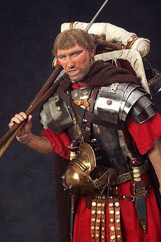"weapons of the roman army  pics. | Roman Legionary aka. ""Marius' Mule"" from Warriors of the Ages"