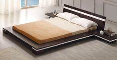 Chic Modern Style Sonata Platform Queen BED IN Wenge Contemporary Design | eBay