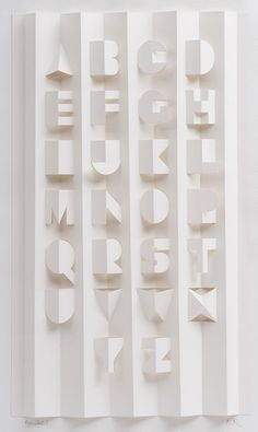 paper cut alphabet by Ron King / featured on discoverpaper.com