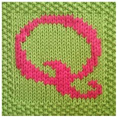 PDF Knitting pattern capital letter Q afghan / by FionaKelly, $2.00