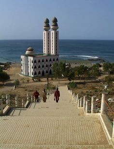 Mosque of the Divinity, on the edge of the Atlantic Ocean, in Dakar, Senegal, West Africa