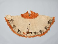 Buffalo Picture Tipi of Never Got Shot  1891–1904 Geography: United States, Oklahoma Culture: Kiowa Medium: Native-tanned leather, pigment Dimensions: Width: 52 in. (132.1 cm) Classification: Hide