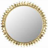 Found it at AllModern - Leaf Crown Sunburst Mirror