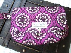 Purple Floral Diaper Clutch  Diaper Wipes by PreciousLittleTot, $39.99