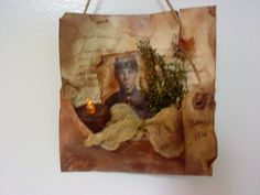 Hanging Cival war Soldiers letter with tealight
