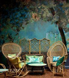London bar, Glade, by designer Carolyn Quartermaine and Belgian artist Didier Mahieu.