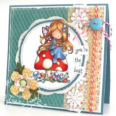 Fairy Happy Day | Fairy Stamp | Digital Stamps By Tiddly Inks