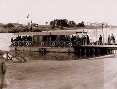 Ferry Across Suez Canal (may be Kantara)  Egypt. 1915-1920.