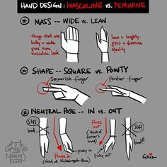 Tuesday Tips – Hand design — MASCULINE vs. FEMININE  These are some design 101 that I always keep in mind whenever I'm designing hands -- mass, shape, and pose.  The basic rule of thumb for mass and shape is, the bulkier and wider the shape; it will appear more masculine.  And the longer, leaner, slender the shape; it will appear more feminine.  Of course these guidelines are NOT absolute, these are suggestions. Try it out and have fun.  XO, Griz  #griz #grizandnorm #100TuesdayTips…