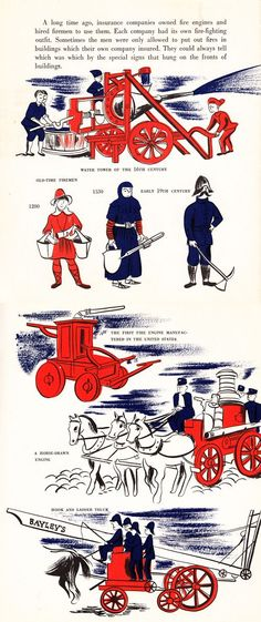 """1974 Vintage Currier /& Ives FIREMEN /""""THE FIRE/"""" EARLY FIREWAGON COLOR Lithograph"""