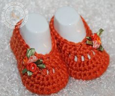 Baby Shoes  Crochet Baby Booties  Baby Girl ♥ by SweetnessInSmyrna, $17.99