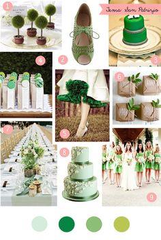 Saint Patrick's day inspired wedding