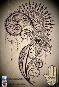 mandala and lace thigh tattoo idea design with lotus flower. By Dzeraldas Kudrevicius Atlantic Coast Tattoo Cornwall mandala and lace thigh tattoo idea design with lotus flower. By Dzeraldas Kudrevicius Atlantic Coast Tattoo Cornwall Lace Thigh Tattoos, Leg Tattoos, Flower Tattoos, Body Art Tattoos, Tribal Tattoos, Tattoo Thigh, Uv Tattoo, Ankle Tattoo, Orchid Tattoo