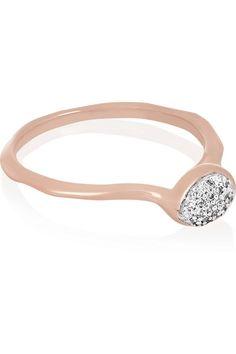 Monica Vinader | Siren Ring mit Roségoldauflage und Diamanten | NET-A-PORTER.COM 165€