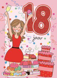 jarig 18 18th Happy Birthday Greeting Card | Quotes | Pinterest | Happy  jarig 18
