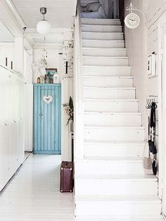 Style At Home, Ibiza, Ontario, Stairs To Heaven, Sweden House, Deco Boheme, Painted Stairs, Old Farm Houses, Interior Photography