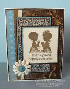 CTMH Bliss paper and Baby Love stamp. Isn't That Sweet?!: Anniversary or wedding card