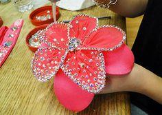 Sondra Celli Bling It On | Blinging an accent flower for a ballroom dancer's costume