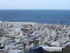 Oceanside cemetery in San Juan, Puerto Rico