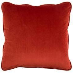 John Richard Solid Red Pillow