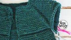 Cómo tejer una chaqueta con mangas Raglan Top Down en dos agujas