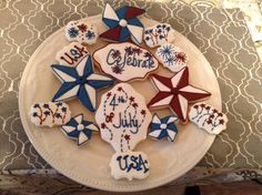 Fourth of July cookies I made.