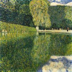 Gustav Klimt, Parque de Schönbrunn, 1916. Óleo sobre lienzo, 110 x 110 cm, Colección particular